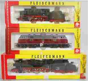 3 FLEISCHMANN GERMAN LOCOS