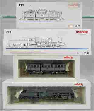 2 MARKLIN LOCOS, HO ga, 3528 D.R. loco, 3393 BR52 loco,