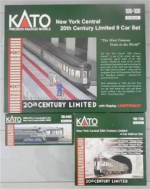 KATO NYC 20TH CENTURY LTD TRAIN SET