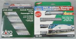 2 KATO AMTRAK TRAIN SETS