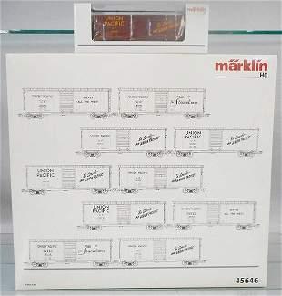 MARKLIN 45646 UNION PACIFIC BOX CAR SET