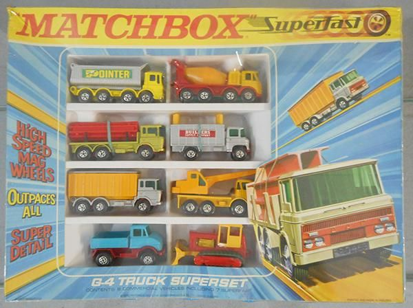 MATCHBOX SUPERFAST G-4 TRUCK SUPER SET