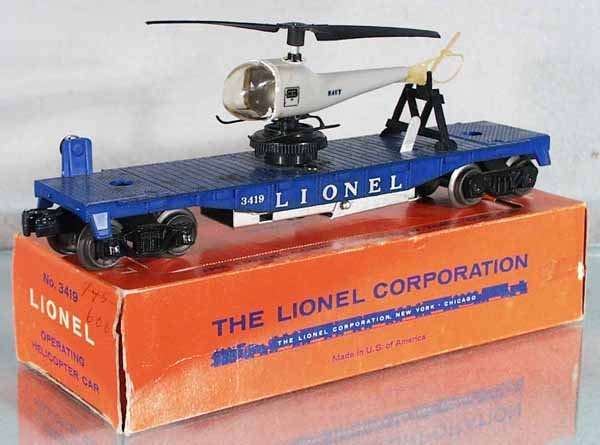 7: LIONEL 3419 OPERATING HELICOPTER CAR