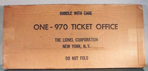 433: LIONEL 970 TICKET OFFICE