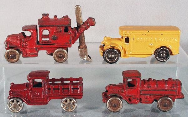 13: 4 CAST IRON VEHICLES