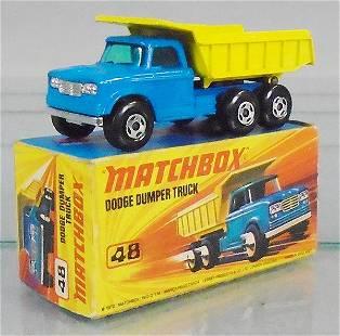 MATCHBOX SUPERFAST 48A1 DUMPER TRUCK
