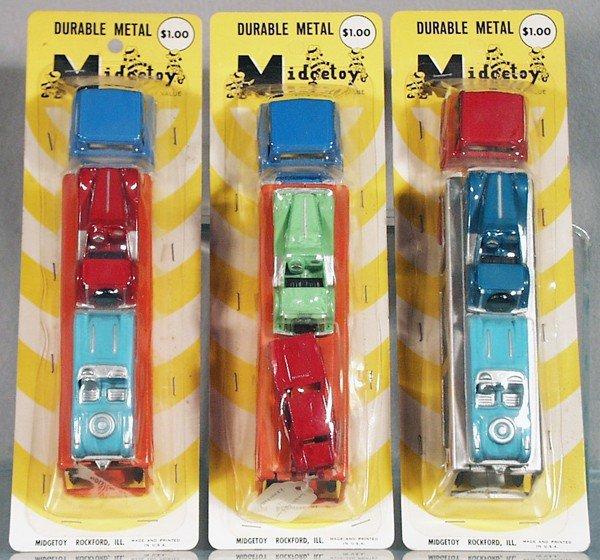 8: 3 MIDGETOY AUTO TRANSPORT SETS