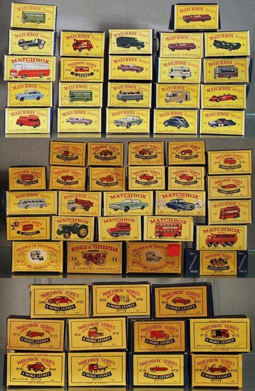 57: 58 ORIG MATCHBOX BOXES