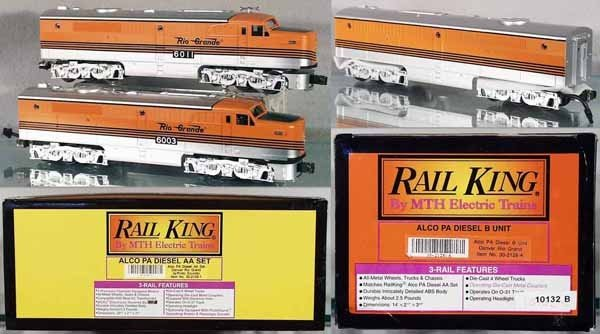 13: MTH RAIL KING D&RG ALCO ABA SET