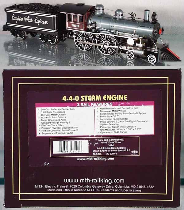 19: MTH EMPIRE STATE EXPRESS LOCO & TENDER