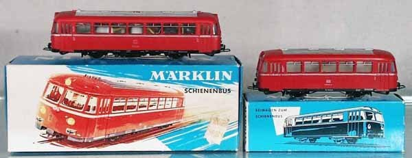 22: MARKLIN 3016 & 40187 RAILBUS & TRAILER