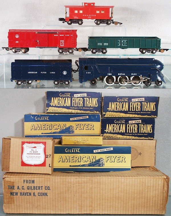 5: AMERICAN FLYER 48T ROYAL BLUE FREIGHT SET