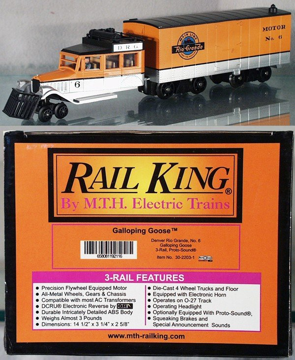 6: MTH 30-2203-1 D & RG GALLOPING GOOSE