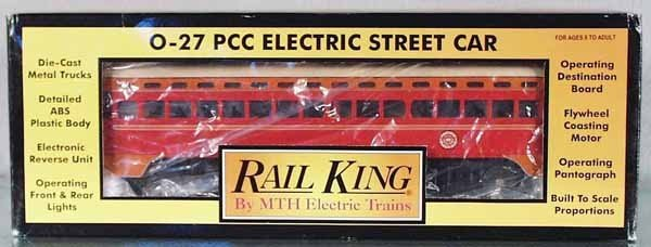 12: MTH 30-2513-1 PACIFIC ELECTRIC STREET CAR