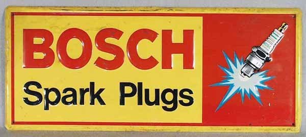 10: BOSCH SPARK PLUGS ADVERTISING SIGN