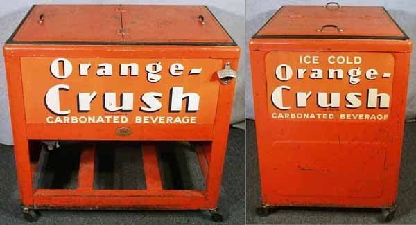 19: ORANGE CRUSH ICE COOLER