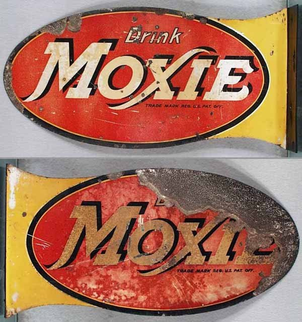 24: MOXIE FLANGE ADVERTISING SIGN