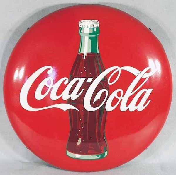 40: COCA COLA BUTTON ADVERTISING SIGN