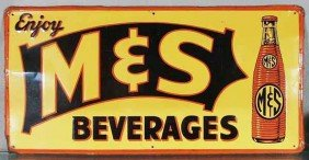 M&S BEVERAGES ADVERTISING SIGN