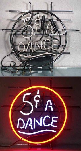 5� A DANCE NEON SIGN