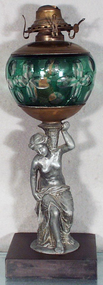 145: IDEN CLASSICAL DRAPED NUDE OIL LAMP