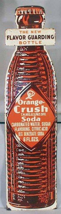 ORANGE CRUSH SODA ADVERTISING SIGN
