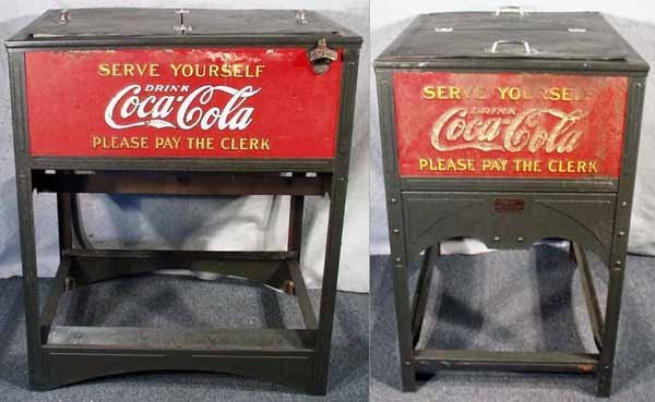 160: GLASCOCK COCA COLA COOLER