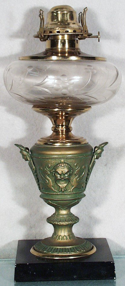 166: CLASSICAL URN OIL LAMP