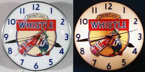 167: WHISTLE SODA ADVERTISING CLOCK