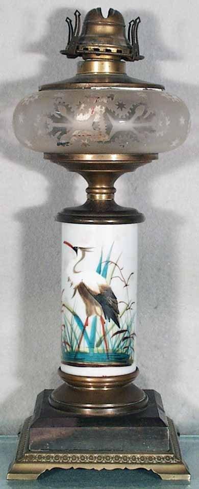 179: SANDWICH HERON OIL LAMP