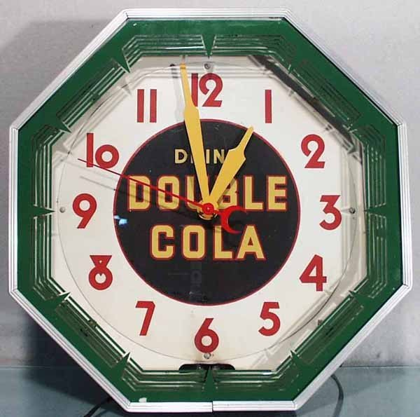 185: DOUBLE COLA ADVERTISING CLOCK