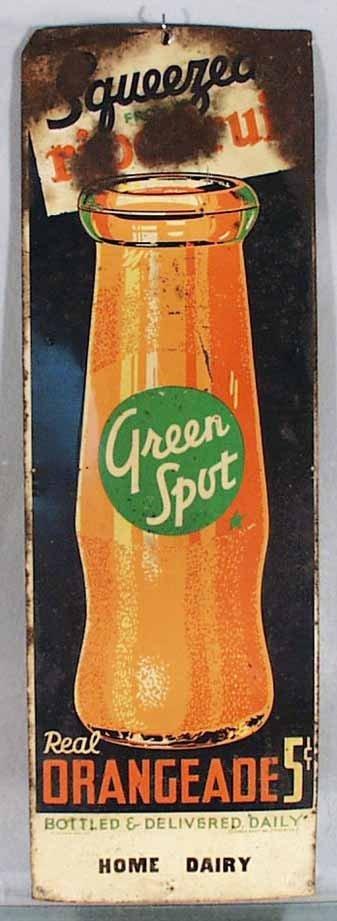 186: GREEN SPOT ORANGEADE ADVERTISING SIGN