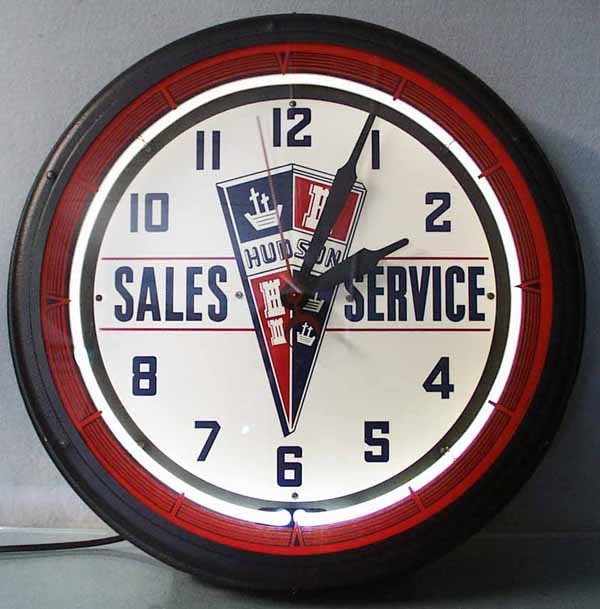 187: HUDSON SALES & SERVICE ADVERTISING CLOCK