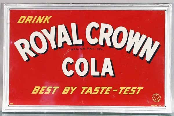 281: ROYAL CROWN COLA ADVERTISING SIGN