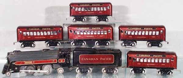 105: MARX CANADIAN PACIFIC TRAIN SET
