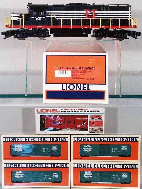 106: LIONEL C420 NEW HAVEN TRAIN SET