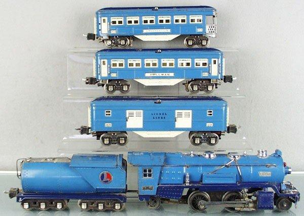 1: LIONEL BLUE COMET TRAIN SET
