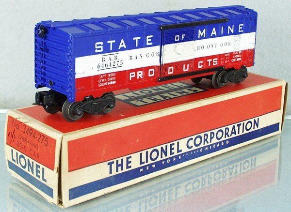 4: LIONEL 6464-275 STATE OF MAINE BOX CAR