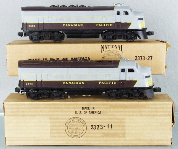 184: LIONEL 2373 CANADIAN PACIFIC F3 AA DIESELS