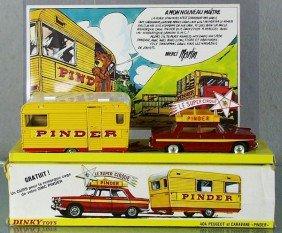 92: DINKY FR882 PINDER CIRCUS 404 PEUGEOT & CARAVAN