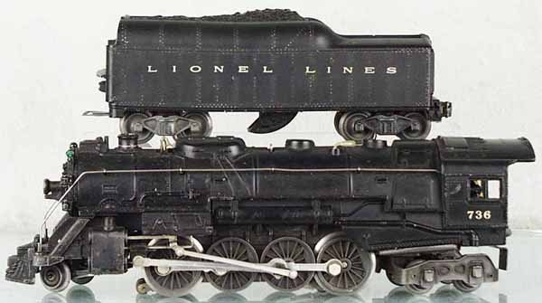 22: LIONEL 736 LOCO & TENDER