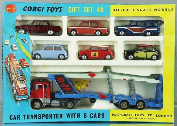 380: CORGI GS48 CAR TRANSPORTER W/6 CARS