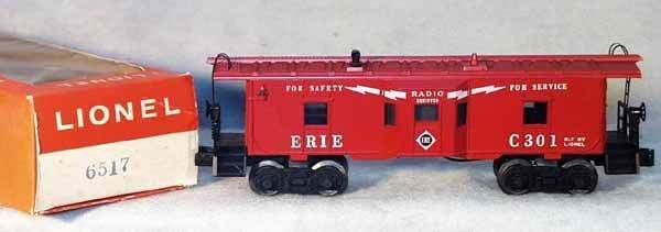 1003: LIONEL 6517 ERIE BAY WINDOW CABOOSE