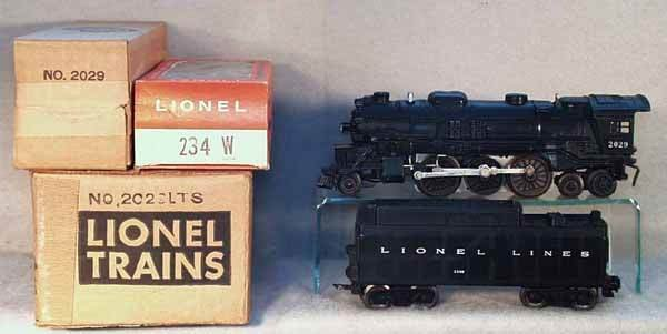 1007: LIONEL 2029 LOCO & 234W TENDER