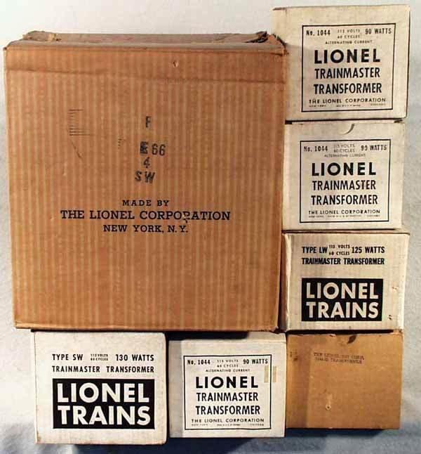 1019: LIONEL TRANSFORMERS IN MASTER CARTON