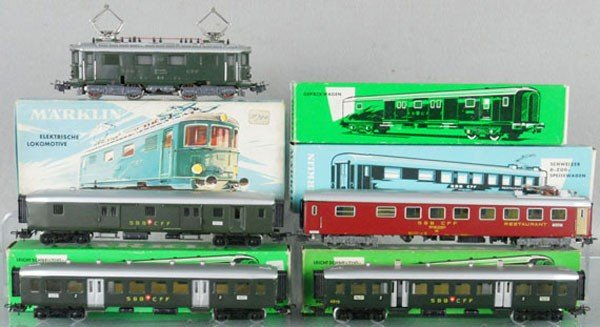13: MARKLIN SWISS TRAIN SET