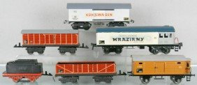 6 GERMAN FREIGHT CARS