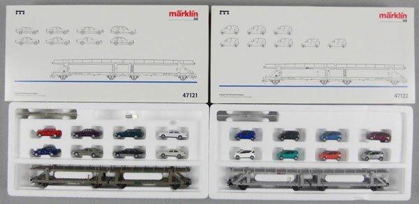 145: 2 MARKLIN CAR SETS