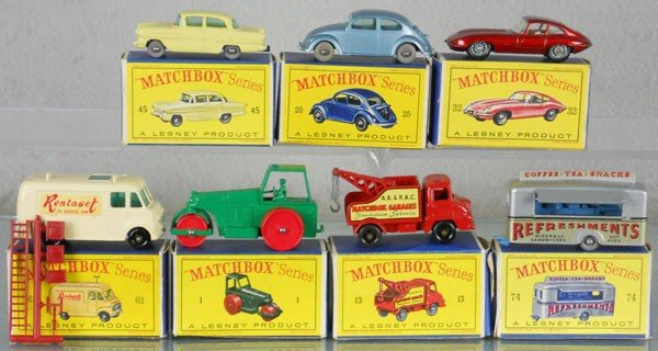 10: 7 MATCHBOX VEHICLES