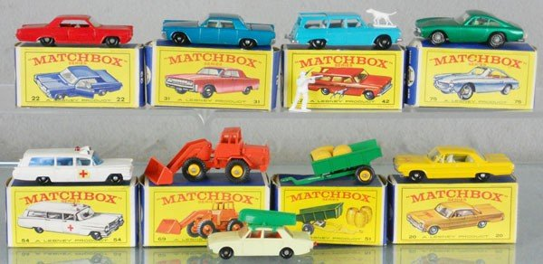 24: 9 MATCHBOX VEHICLES